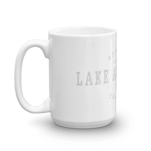 Authentic Lake Arrowhead Camp Mug 15oz Handle Left