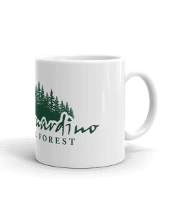 Authentic San Bernardino National Forest Camp Mug 11oz Handle Right