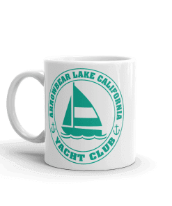 Arrowbear Lake Yacht Club Camp Mug 11 oz Handle Left