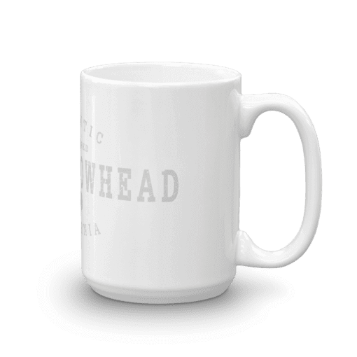 Authentic Lake Arrowhead Camp Mug 15oz Handle Right