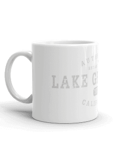 Authentic Lake Gregory Camp Mug 11oz Handle Left