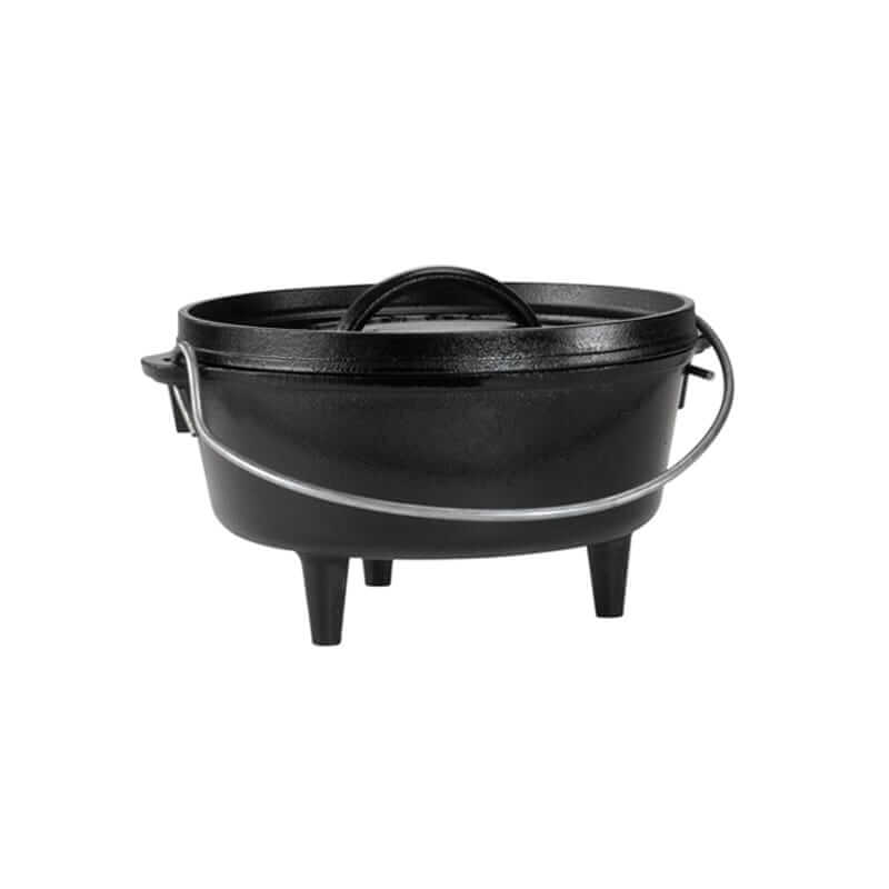 Lodge Cast Iron Camp Dutch Oven 8 Inch (2 Quart)