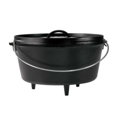 Lodge Cast Iron Camp Dutch Oven 10 Inch Deep (5 Quart)