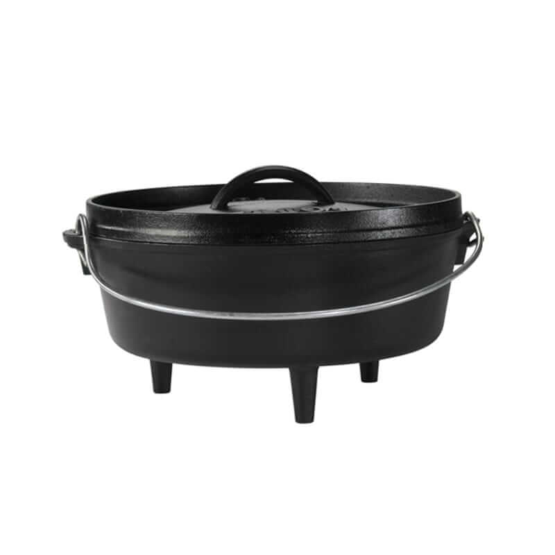 Lodge Cast Iron Camp Dutch Oven 14 Inch Deep (10 Quart)