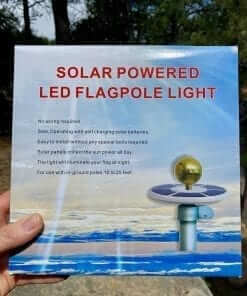 Solar Powered Flagpole Light