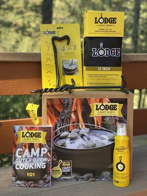 Lodge Cast Iron Camp Dutch Oven Starter Kit